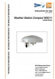 STATION COMPACTE WSC11 THIES - BLET