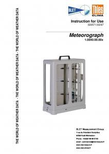 METEOROGRAPHE THIES - BLET