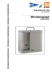 Microbarographe THIES