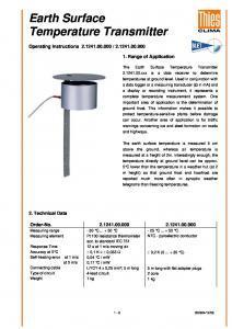 Transmetteur THIES - Indicateur Température de Surface du Sol